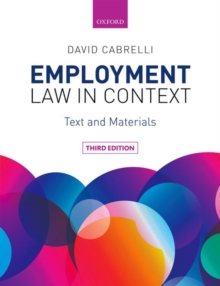 Employment Law in Context, Paperback / softback Book