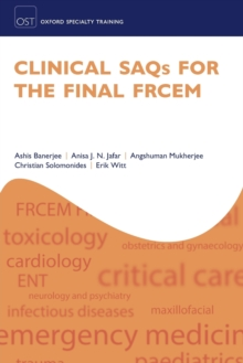Clinical SAQs for the Final FRCEM, Paperback / softback Book