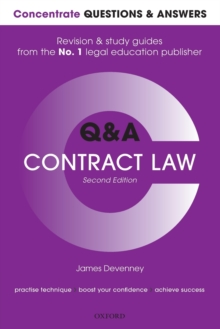 Concentrate Questions and Answers Contract Law : Law Q&A Revision and Study Guide, Paperback / softback Book