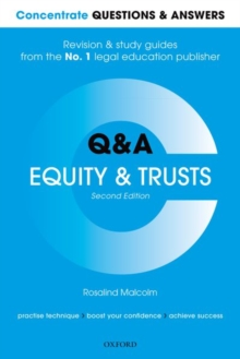 Concentrate Questions and Answers Equity and Trusts : Law Q&A Revision and Study Guide, Paperback / softback Book