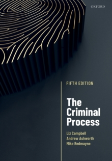 The Criminal Process, Paperback / softback Book