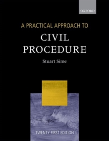 A Practical Approach to Civil Procedure, Paperback / softback Book