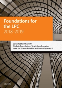 Foundations for the LPC 2018-2019, Paperback / softback Book