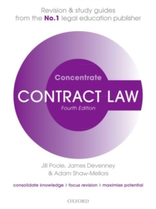 Contract Law Concentrate : Law Revision and Study Guide, Paperback / softback Book