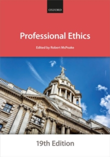 Professional Ethics, Paperback / softback Book