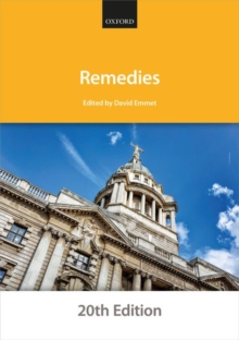 Remedies, Paperback / softback Book