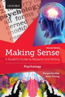 Making Sense in Psychology : A Student's Guide to Research and Writing, Paperback Book