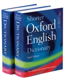 Shorter Oxford English Dictionary, Hardback Book