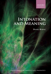 Intonation and Meaning, Paperback Book