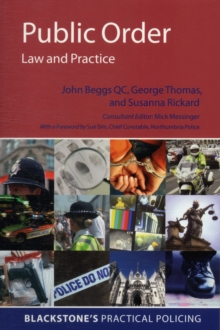 Public Order: Law and Practice, Paperback / softback Book