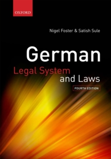 German Legal System and Laws, Paperback / softback Book