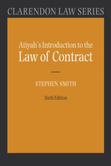 Atiyah's Introduction to the Law of Contract, Paperback Book