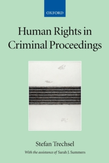 Human Rights in Criminal Proceedings, Paperback / softback Book
