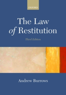 The Law of Restitution, Paperback Book
