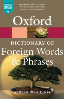 Oxford Dictionary of Foreign Words and Phrases, Paperback Book