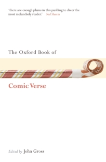 The Oxford Book of Comic Verse, Paperback Book