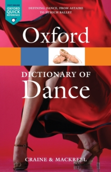 The Oxford Dictionary of Dance, Paperback Book