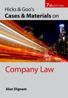 Hicks & Goo's Cases and Materials on Company Law, Paperback / softback Book