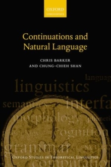 Continuations and Natural Language, Paperback Book