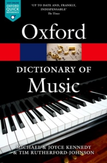 The Oxford Dictionary of Music, Paperback / softback Book
