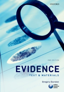 Evidence : Text & Materials, Paperback / softback Book