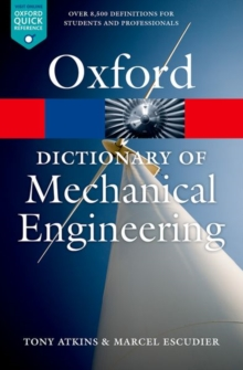 A Dictionary of Mechanical Engineering, Paperback Book