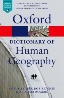 A Dictionary of Human Geography, Paperback Book
