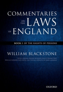The Oxford Edition of Blackstone's: Commentaries on the Laws of England : Book I, II, III, and IV, Multiple copy pack Book