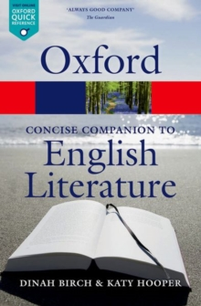 The Concise Oxford Companion to English Literature, Paperback Book