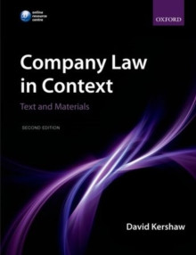 Company Law in Context : Text and materials, Paperback / softback Book