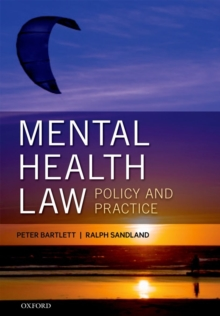 Mental Health Law: Policy and Practice, Paperback / softback Book