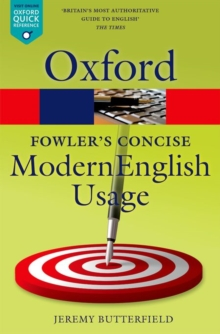 Fowler's Concise Dictionary of Modern English Usage, Paperback / softback Book