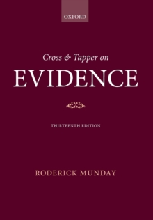 Cross & Tapper on Evidence, Paperback / softback Book