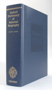 Oxford Dictionary of National Biography 2005-2008, Hardback Book