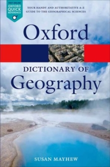 A Dictionary of Geography, Paperback / softback Book