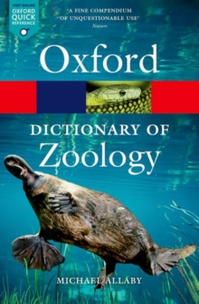 A Dictionary of Zoology, Paperback Book