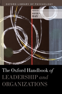 The Oxford Handbook of Leadership and Organizations, Hardback Book