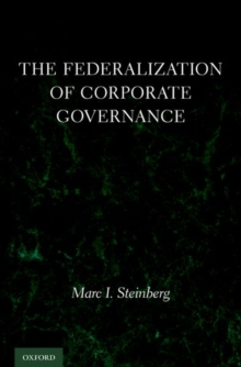 The Federalization of Corporate Governance, Hardback Book