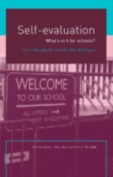 Self-Evaluation : What's In It For Schools?, PDF eBook