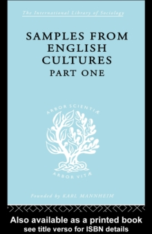 Samples from English Cultures : Part 1, PDF eBook
