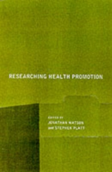 Researching Health Promotion, PDF eBook
