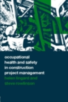 Occupational Health and Safety in Construction Project Management, PDF eBook