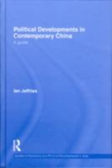 Political Developments in Contemporary China : A Guide, EPUB eBook