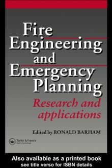 Fire Engineering and Emergency Planning : Research and applications, PDF eBook