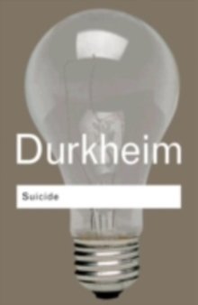 Suicide : A Study in Sociology, PDF eBook
