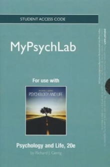 NEW MyLab Psychology without Pearson eText -- Standalone Access Card -- for Psychology and Life, Digital product license key Book