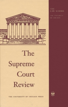 Supreme Court Review 2016, Hardback Book