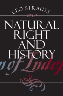 Natural Right and History, Paperback / softback Book