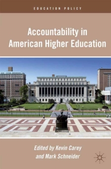 Accountability in American Higher Education, PDF eBook