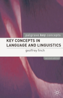 Key Concepts in Language and Linguistics, PDF eBook